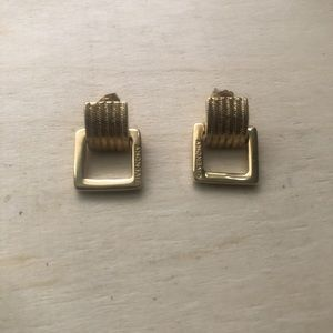 Vintage gold tone Givenchy dangle Earrings